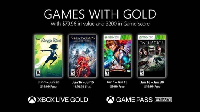Jeux gratuits Xbox Gold pour juin 2021 disponibles au téléchargement