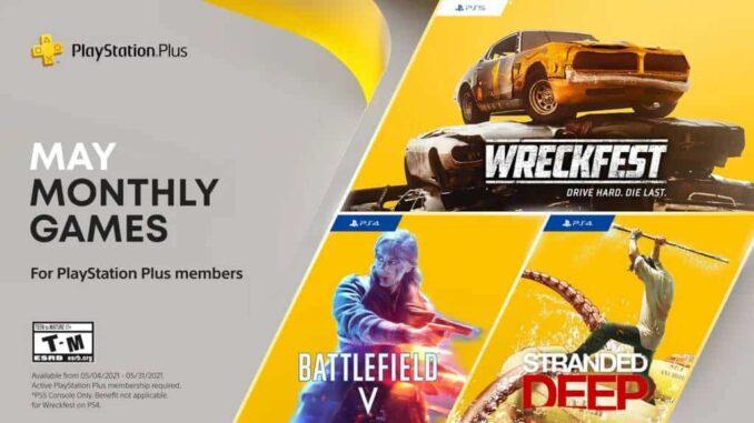 Les jeux gratuits PlayStation Plus de mai 2021 PS5 PS4