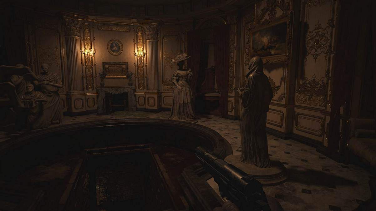 Puzzle du hall of the Four - Resident Evil Village
