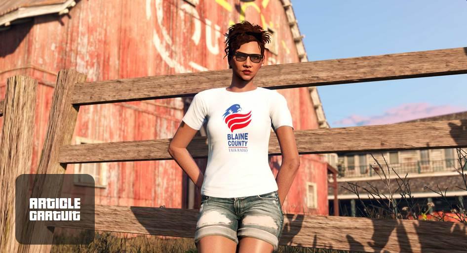 T-shirt BCTR gratuit à débloquer dans GTA Online / GTA 5 / GTA 6