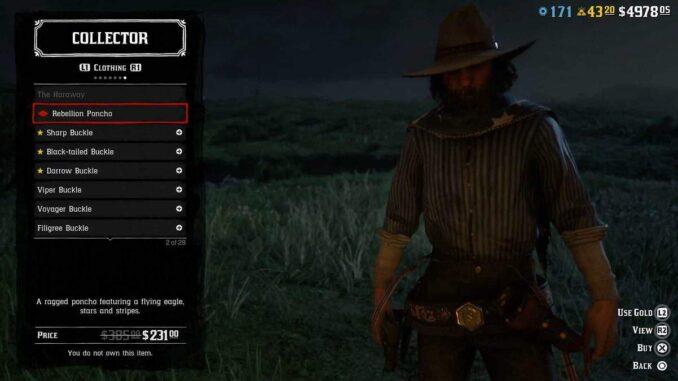Comment obtenir Poncho Rebellion dans Red Dead Online / RDR 2 Guide