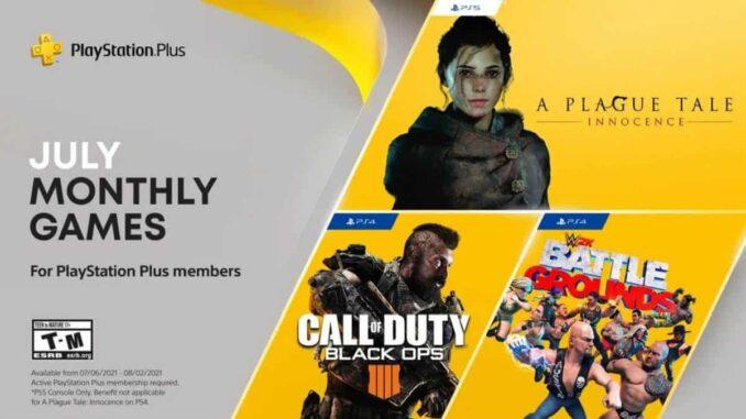 jeux PlayStation Plus gratuits de juillet 2021 sur PS5 et PS4