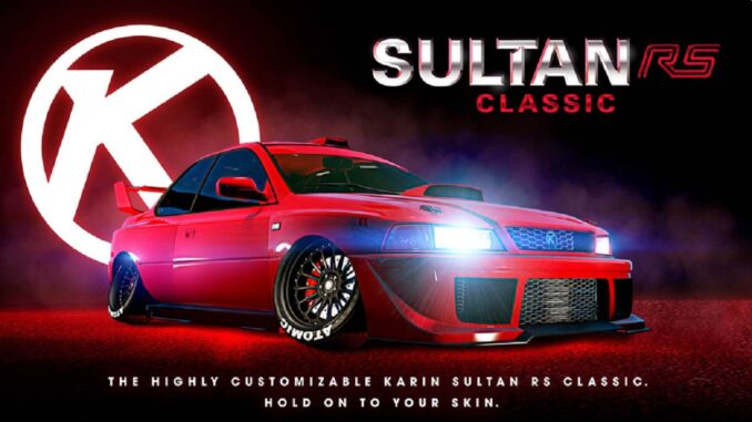 GTA Online Karin Sultan RS classique - GTA 5 PS5 PS4 Xbox PC Android