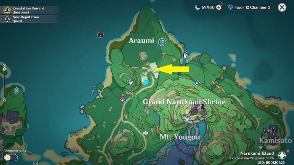 Genshin Impact Lost Riches trésors spéciaux Araumi