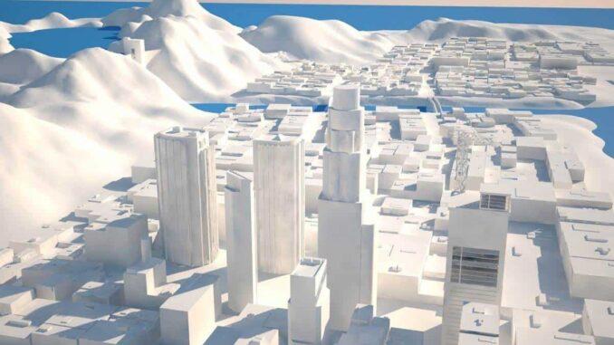 la carte GTA 5 en 3D - Dom Riccobene Map designer