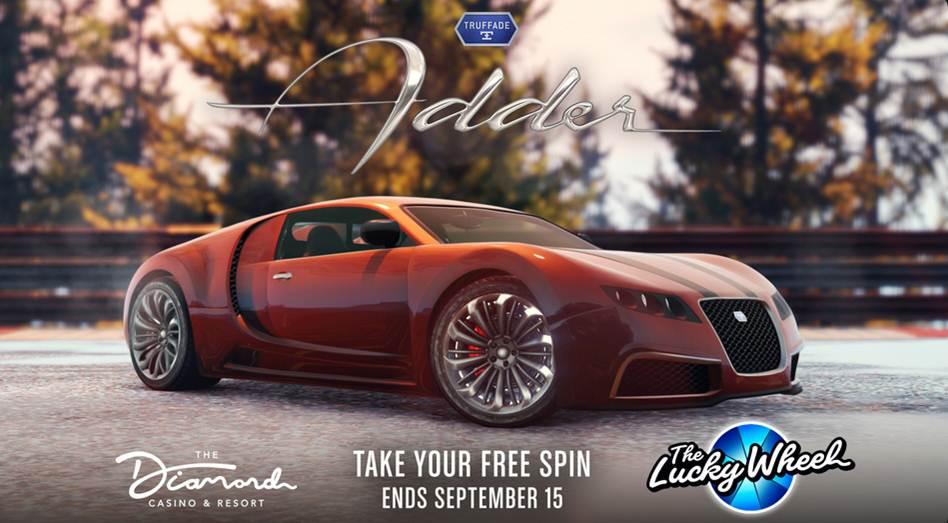 GTA Online Casino Vehicules - Truffade Adder GTA 5 PC PS5 Xbox et mobile