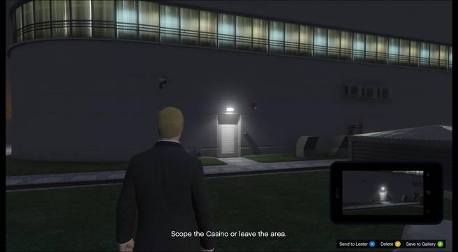 GTA Online reperage Point d'accès pour braquage du casino